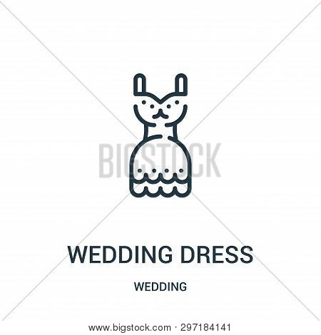 Wedding Dress Icon Isolated On White Background From Wedding Collection. Wedding Dress Icon Trendy A