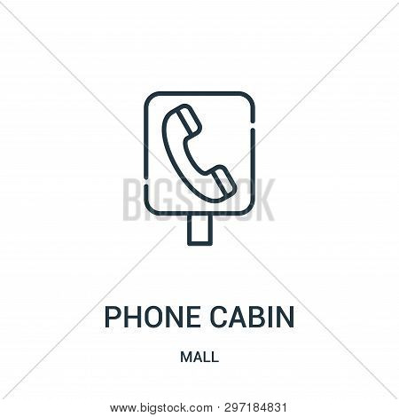 Phone Cabin Icon Isolated On White Background From Mall Collection. Phone Cabin Icon Trendy And Mode