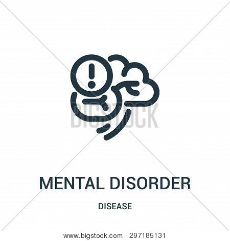 Mental Disorder Icon Isolated On White Background From Disease Collection. Mental Disorder Icon Tren