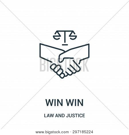 Win Win Icon Isolated On White Background From Law And Justice Collection. Win Win Icon Trendy And M