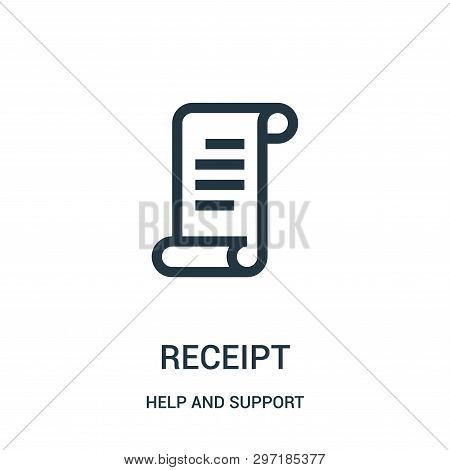 Receipt Icon Isolated On White Background From Help And Support Collection. Receipt Icon Trendy And