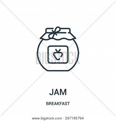 Jam Icon Isolated On White Background From Breakfast Collection. Jam Icon Trendy And Modern Jam Symb
