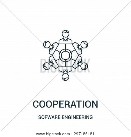 Cooperation Icon Isolated On White Background From Sofware Engineering Video Gaming Collection. Coop