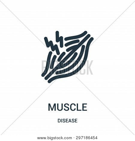 Muscle Icon Isolated On White Background From Disease Collection. Muscle Icon Trendy And Modern Musc