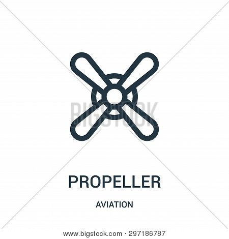 Propeller Icon Isolated On White Background From Aviation Collection. Propeller Icon Trendy And Mode