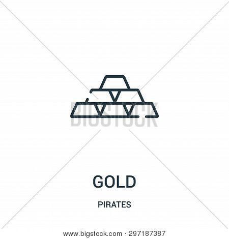 Gold Icon Isolated On White Background From Pirates Collection. Gold Icon Trendy And Modern Gold Sym