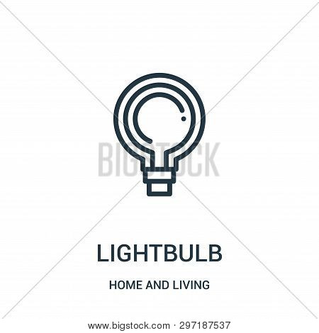 Lightbulb Icon Isolated On White Background From Home And Living Collection. Lightbulb Icon Trendy A