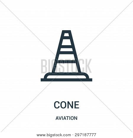Cone Icon Isolated On White Background From Aviation Collection. Cone Icon Trendy And Modern Cone Sy