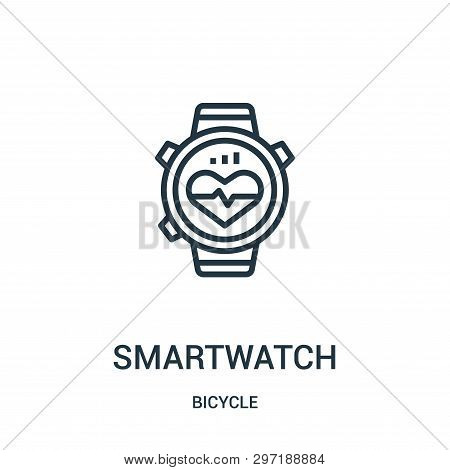 Smartwatch Icon Isolated On White Background From Bicycle Collection. Smartwatch Icon Trendy And Mod