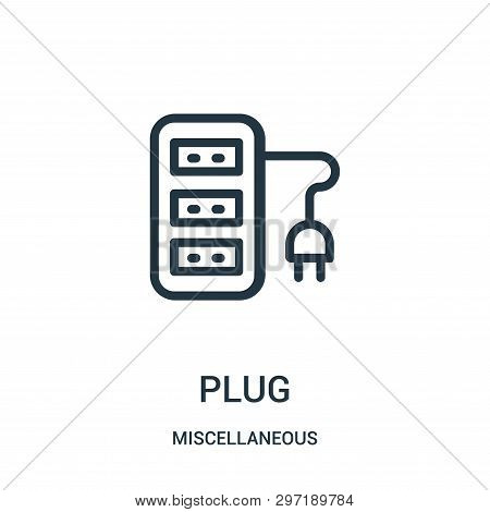 plug icon isolated on white background from miscellaneous collection. plug icon trendy and modern plug symbol for logo, web, app, UI. plug icon simple sign. plug icon flat vector illustration for graphic and web design. poster