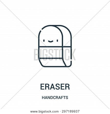 Eraser Icon Isolated On White Background From Handcrafts Collection. Eraser Icon Trendy And Modern E