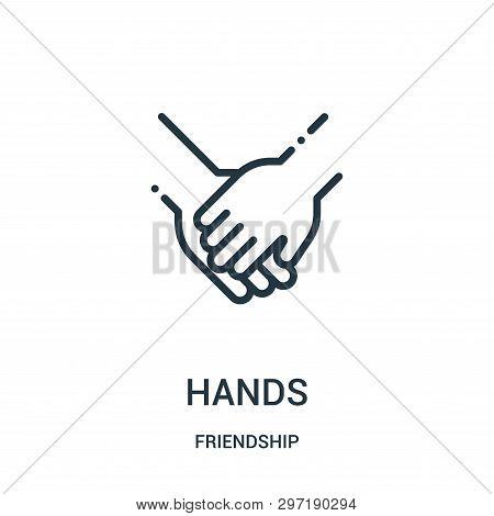 Hands Icon Isolated On White Background From Friendship Collection. Hands Icon Trendy And Modern Han