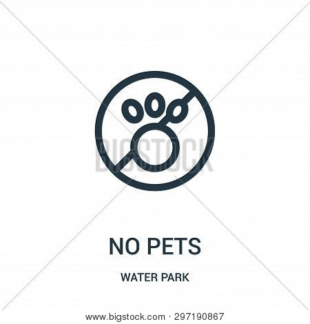No Pets Icon Isolated On White Background From Water Park Collection. No Pets Icon Trendy And Modern