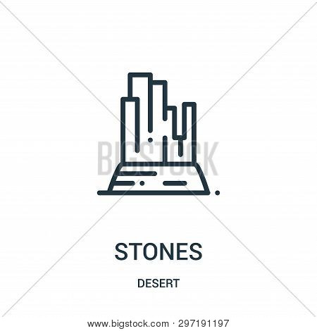 Stones Icon Isolated On White Background From Desert Collection. Stones Icon Trendy And Modern Stone