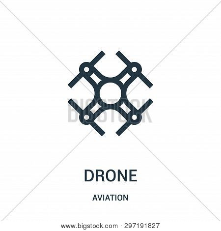 Drone Icon Isolated On White Background From Aviation Collection. Drone Icon Trendy And Modern Drone