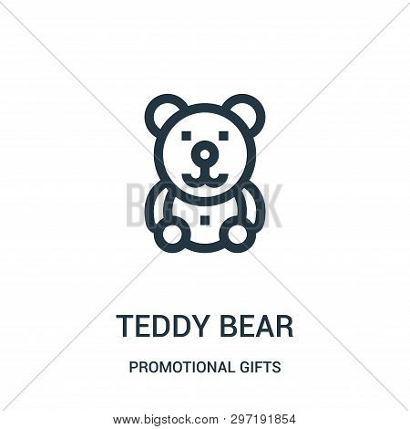 Teddy Bear Icon Isolated On White Background From Promotional Gifts Collection. Teddy Bear Icon Tren