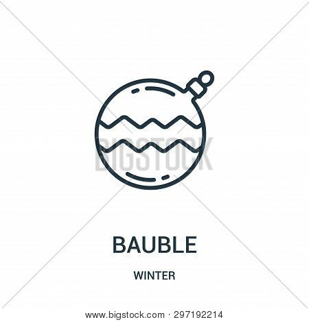 Bauble Icon Isolated On White Background From Winter Collection. Bauble Icon Trendy And Modern Baubl