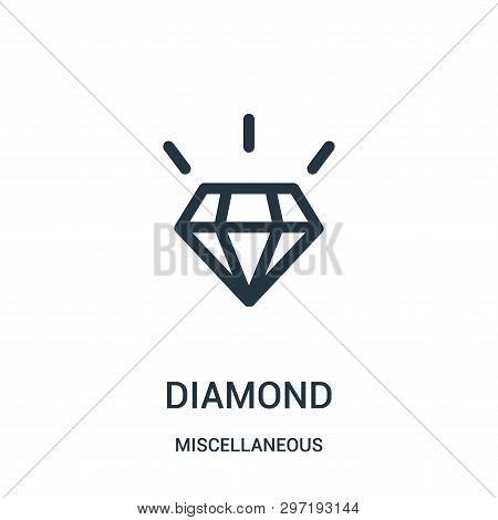 Diamond Icon Isolated On White Background From Miscellaneous Collection. Diamond Icon Trendy And Mod