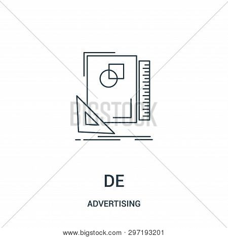Design Icon Isolated On White Background From Advertising Collection. Design Icon Trendy And Modern