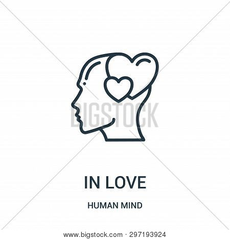 In Love Icon Isolated On White Background From Human Mind Collection. In Love Icon Trendy And Modern