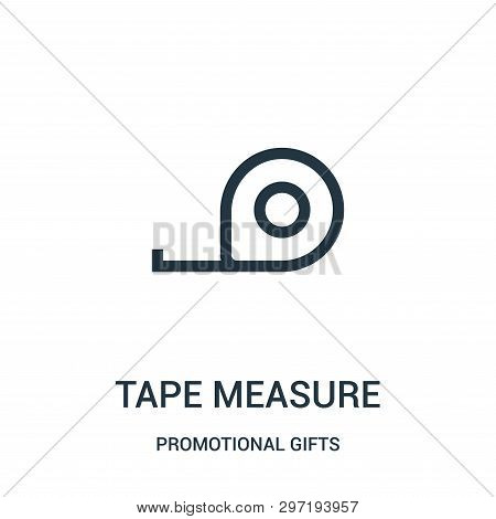 Tape Measure Icon Isolated On White Background From Promotional Gifts Collection. Tape Measure Icon