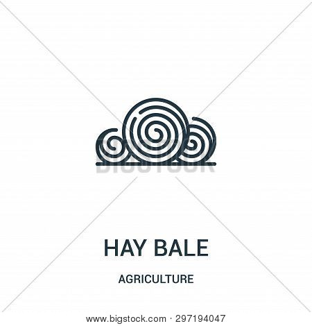 Hay Bale Icon Isolated On White Background From Agriculture Collection. Hay Bale Icon Trendy And Mod