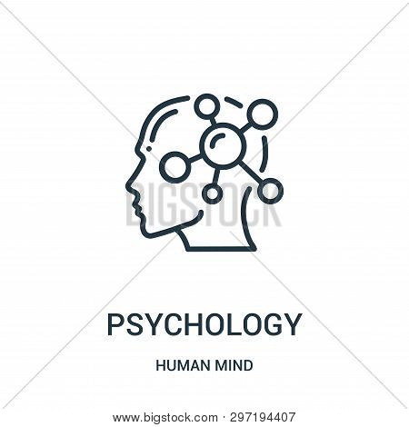 Psychology Icon Isolated On White Background From Human Mind Collection. Psychology Icon Trendy And