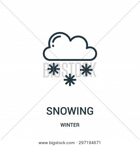 Snowing Icon Isolated On White Background From Winter Collection. Snowing Icon Trendy And Modern Sno