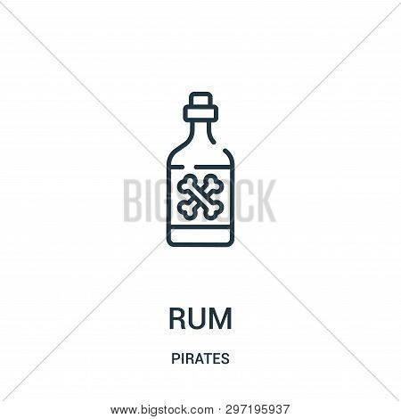 Rum Icon Isolated On White Background From Pirates Collection. Rum Icon Trendy And Modern Rum Symbol