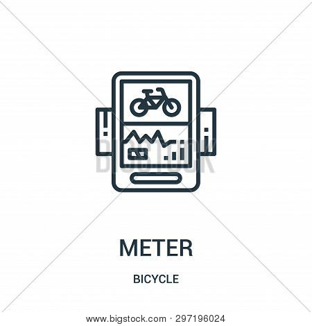 Meter Icon Isolated On White Background From Bicycle Collection. Meter Icon Trendy And Modern Meter