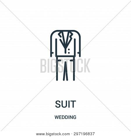 Suit Icon Isolated On White Background From Wedding Collection. Suit Icon Trendy And Modern Suit Sym