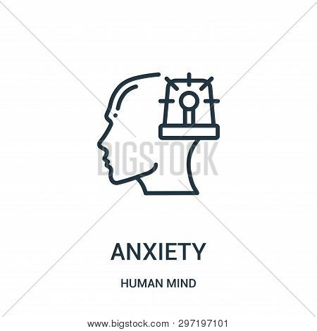 Anxiety Icon Isolated On White Background From Human Mind Collection. Anxiety Icon Trendy And Modern