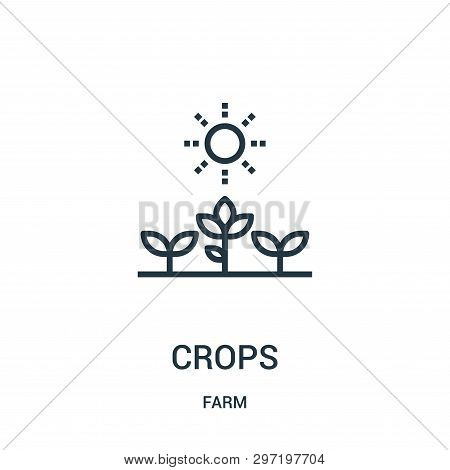 Crops Icon Isolated On White Background From Farm Collection. Crops Icon Trendy And Modern Crops Sym