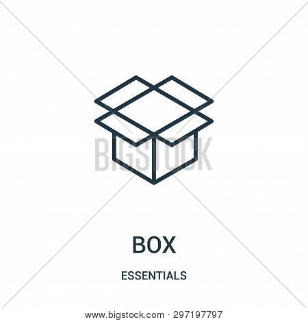 Box Icon Isolated On White Background From Essentials Collection. Box Icon Trendy And Modern Box Sym