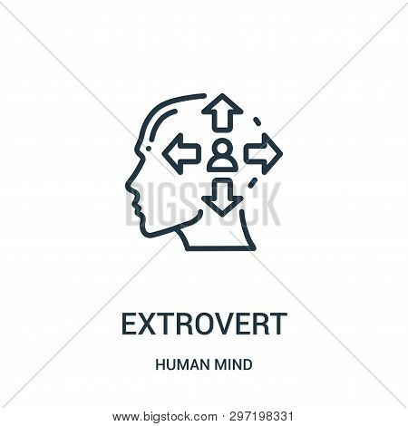 Extrovert Icon Isolated On White Background From Human Mind Collection. Extrovert Icon Trendy And Mo