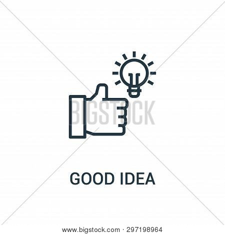 Good Idea Icon Isolated On White Background From Seo Collection. Good Idea Icon Trendy And Modern Go