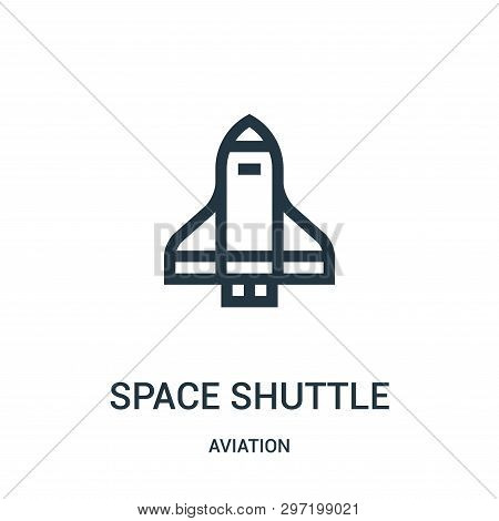 Space Shuttle Icon Isolated On White Background From Aviation Collection. Space Shuttle Icon Trendy