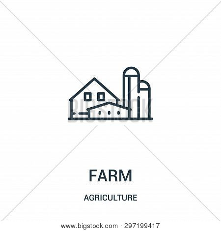 Farm Icon Isolated On White Background From Agriculture Collection. Farm Icon Trendy And Modern Farm