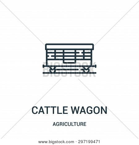 Cattle Wagon Icon Isolated On White Background From Agriculture Collection. Cattle Wagon Icon Trendy