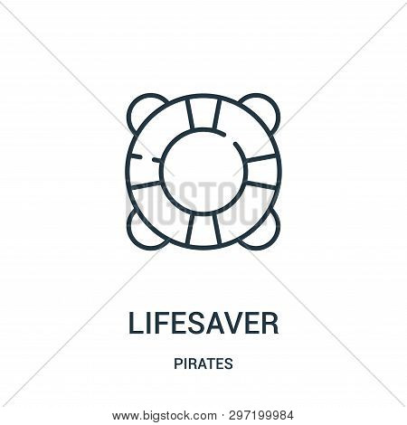 Lifesaver Icon Isolated On White Background From Pirates Collection. Lifesaver Icon Trendy And Moder