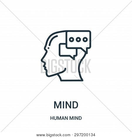 Mind Icon Isolated On White Background From Human Mind Collection. Mind Icon Trendy And Modern Mind
