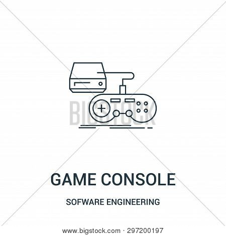 Game Console Icon Isolated On White Background From Sofware Engineering Video Gaming Collection. Gam