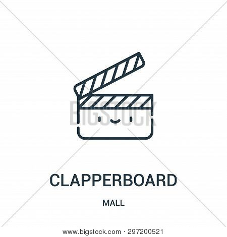 Clapperboard Icon Isolated On White Background From Mall Collection. Clapperboard Icon Trendy And Mo