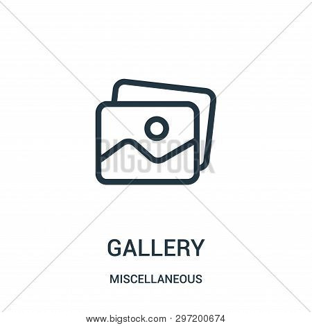 gallery icon isolated on white background from miscellaneous collection. gallery icon trendy and modern gallery symbol for logo, web, app, UI. gallery icon simple sign. gallery icon flat vector illustration for graphic and web design. poster