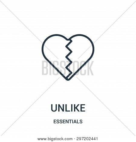 Unlike Icon Isolated On White Background From Essentials Collection. Unlike Icon Trendy And Modern U
