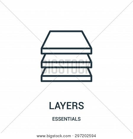 Layers Icon Isolated On White Background From Essentials Collection. Layers Icon Trendy And Modern L