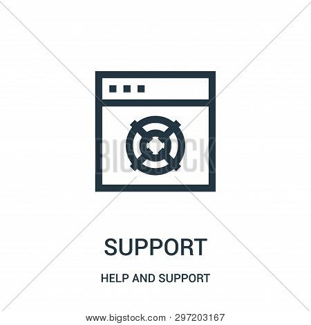 Support Icon Isolated On White Background From Help And Support Collection. Support Icon Trendy And