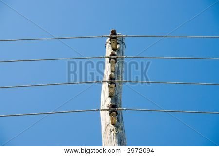 Power Lines On Post