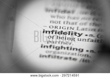 Word Or Phrase Infidelity In A Dictionary. Great Photo For Your Needs.