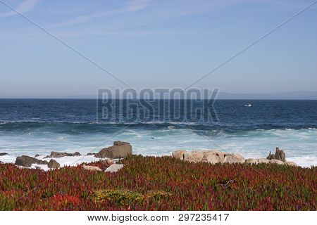 This Is An Image Of Monterey Bay Taken From The Pacific Grove Shoreline In Early Morning April Sunsh